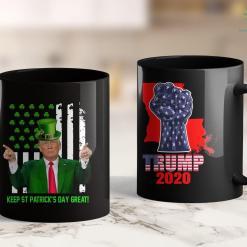 Trump 2020 Tank Top Keep St Patricks Day Great-American Flag Trump Patricks Day 11oz Coffee Mug %tag familyloves.com