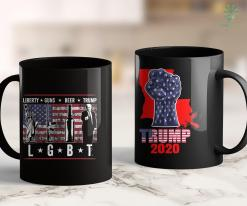 Trump 2020 Vector Liberty Guns Beer Trump Lgbt Parody Funny Gift 11oz Coffee Mug %tag familyloves.com