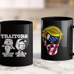 Trump 2020 Vinyl Decal Traitors Moscow Mitch Putins Bitch Ditch Russia Trump Meme 11oz Coffee Mug %tag familyloves.com