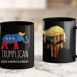 Trump Supporter T Shirts Rabbit Q Deep State Political Trump Patriotic Qanon 11oz Coffee Mug %tag familyloves.com