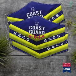 Us Coast Guard News Womens Coast Guard Wife Face Mask Gift %tag familyloves.com
