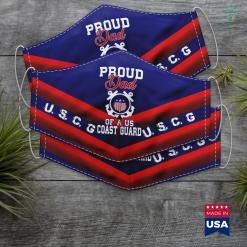 Us Coast Guard Officer Proud Us Coast Guard Dad Face Mask Gift %tag familyloves.com