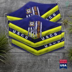 Us Coast Guard Seattle Vintage Coast Guard Cousin American Flag Veteran Day Gift Face Mask Gift %tag familyloves.com