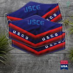 Us Coast Guard Wiki Modern Uscg Us Coast Guard Stencil Blue Text Distressed Face Mask Gift %tag familyloves.com