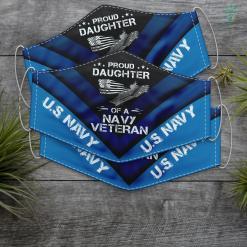 Us Navy Camo Proud Daughter Of A Us Navy Veteran U.S Navy Funny Face Mask Gift %tag familyloves.com
