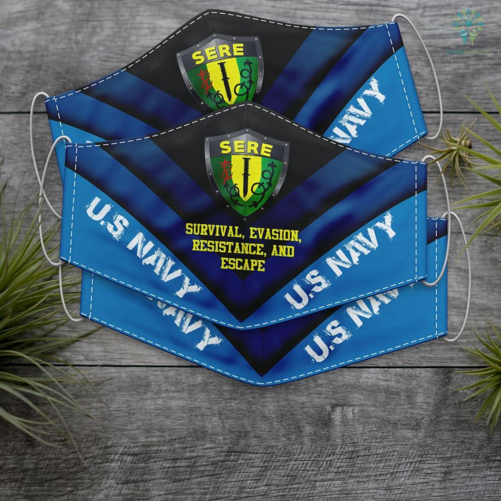 Us Navy Uniforms U.S Navy Sere America Naval Survival Gift Vintage Insignia Face Mask Gift Familyloves.com