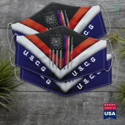 Uscg Portal American Flag Grunge Us Coast Guard Face Mask Gift %tag familyloves.com