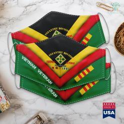 Veteran Memorial Park 4Th Infantry Division Vietnam Veteran Ivy Division Face Mask Gift %tag familyloves.com