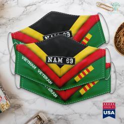 Veteran Wall Vietnam War Vet Veterans Licence Plate Nam 69 Gift Face Mask Gift %tag familyloves.com