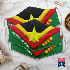 Veteran War Vietnam Flag Viet Pride National Flag Red And Yellow Star Face Mask Gift %tag familyloves.com