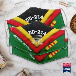 Veterans Clothing Pickup Dd 214 Alumni Vietnam Veteran Thin Line Flag Face Mask Gift %tag familyloves.com