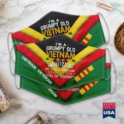 Veterans Donations Pick Up Mens Grumpy Old Vietnam Veteran Gift Funny Veteran Face Mask Gift %tag familyloves.com