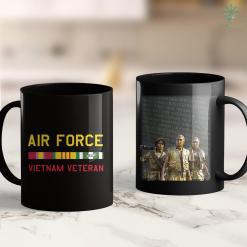 Veterans For America Mens Vietnam Veteran Air Force 11Oz 15Oz Black Coffee Mug %tag familyloves.com