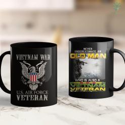 Vfw Donations For Pick Up Vietnam War U.S. Air Force Apparel Air Force Veteran 11Oz 15Oz Black Coffee Mug %tag familyloves.com