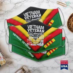 Vietnam Wall Graffiti Vietnam Veteran Daughter I Was Raised By Mine Face Mask Gift %tag familyloves.com