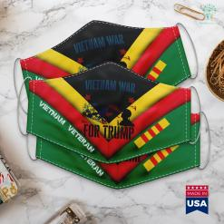 Vietnam War Events Vietnam War Veteran For Trump 2020 Election Face Mask Gift %tag familyloves.com