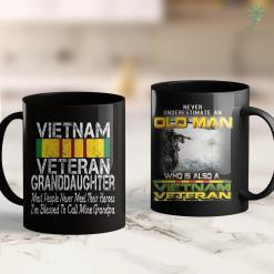Vietnam Veterans List Of Names Us Military Family Vietnam Veteran Granddaughter Gift 11Oz 15Oz Black Coffee Mug %tag familyloves.com