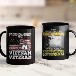 Vietnam Veterans Search Womens Proud Daughter Of A Vietnam Veteran For Veteran Day Gifts 11Oz 15Oz Black Coffee Mug %tag familyloves.com