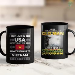 Vietnam Vets Pickup Xmas Vietnam Flag Quote Roots Ugly Sweater Gift 11Oz 15Oz Black Coffee Mug %tag familyloves.com