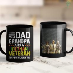 Vietnam Wall Memorial Mens Im Dad Grandpa And Vietnam Veteran Us Army Veterans Day 11Oz 15Oz Black Coffee Mug %tag familyloves.com