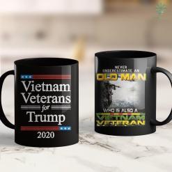 Vietnam War Memorial Wall Vietnam Veterans For Trump 2020 Usa Flag Republican Gop Gift 11Oz 15Oz Black Coffee Mug %tag familyloves.com