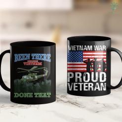 Vietnam Veterans Memorial Facts Mens Print On Back Proud Dad G-Daddy Vietnam Veteran Gift 11Oz 15Oz Black Coffee Mug %tag familyloves.com