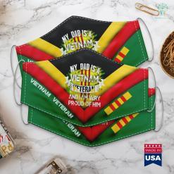 Vva Donation Pickup My Dad Is A Vietnam Veteran Proud Veterans Day Tee Face Mask Gift %tag familyloves.com
