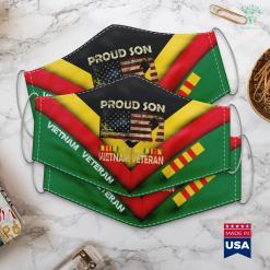 War In Vietnam Proud Son Of Vietnam Veteran Tee American Flag Face Mask Gift %tag familyloves.com