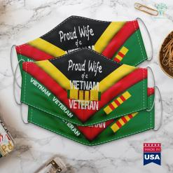 War Wall Vietnam Veteran Proud Wife Of A Vietnam Veteran Face Mask Gift %tag familyloves.com