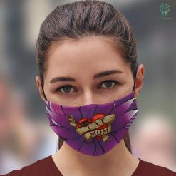 Where To Buy Mothers Day Gifts Cat Mom In Retro Heart Tattoo Style Face Mask Gift %tag familyloves.com