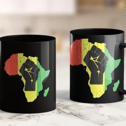 Who Funds Black Lives Matter Vintage Black Power African Continent 11Oz 15Oz Black Mug %tag familyloves.com