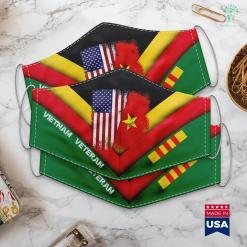 World Map Vietnam Half Vietnamese Flag Vintage Vietnam Usa Gift Face Mask Gift %tag familyloves.com