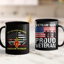 Vietnam Era Veteran Hat Vietnam Veteran Us Flag Gift Vietnam War Vet Gift 11Oz 15Oz Black Coffee Mug %tag familyloves.com