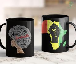 Yellow Lives Matter Juneteenth Natural Hair Afro For Black Women 11Oz 15Oz Black Mug %tag familyloves.com