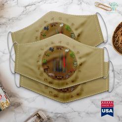 Bass Pro Shop San Antonio Fishing Rod Hunting Rifle American Flag On Back Cloth Face Mask Gift %tag familyloves.com