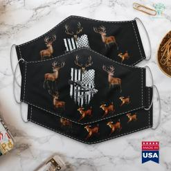 Montana Hunting Regulations Archery Crossbow Hunt Vintage American Flag Bow Hunting Cloth Face Mask Gift %tag familyloves.com