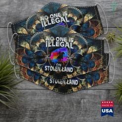 Northwest Native American Tribe No One Is Illegal Native American Men Women Immigrant Cloth Face Mask Gift %tag familyloves.com