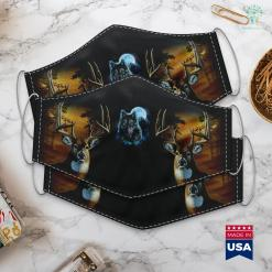 Ted Nugent Hunting Grey Wolf Hunting Ground Icy Moon Forest Galaxy Cloth Face Mask Gift %tag familyloves.com
