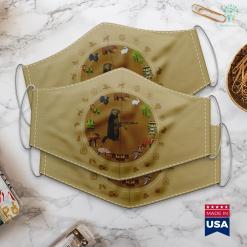 Thaumaturge Hunting Log Hunting Woodchuck Ak 47 Gun Groundhog Funny Tee Cloth Face Mask Gift %tag familyloves.com