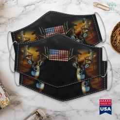 Tree Saddle Hunting Trap Shooting American Flag Shotgun Shells Hunting Gift Cloth Face Mask Gift %tag familyloves.com