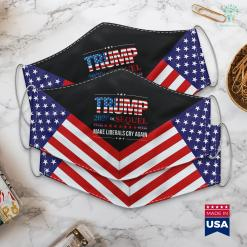 Trump Thanksgiving Tweet Trump 2020 Make Liberals Cry Again Donald Trump Election Cloth Face Mask Gift %tag familyloves.com