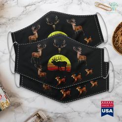 Twin Adder Hunting Log American Elk Hunter Dad Vintage Retro Sun Bow Hunting Gift Cloth Face Mask Gift %tag familyloves.com