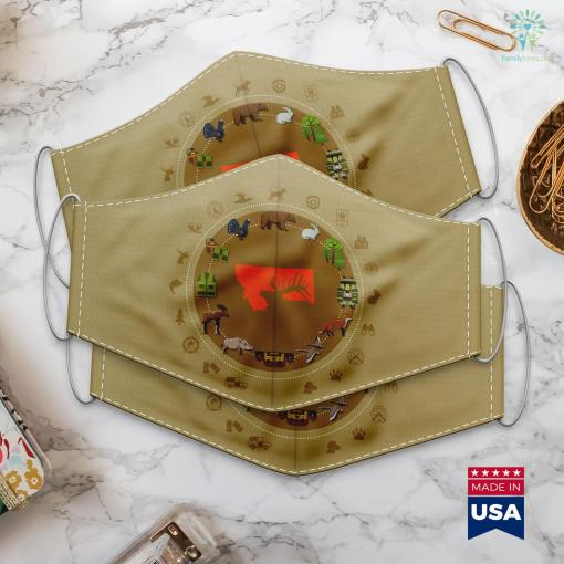 Washington State Department Of Fish And Wildlife Montana Elk Hunting Cloth Face Mask Gift %tag familyloves.com