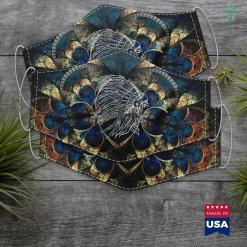 White Native American Native American Cloth Face Mask Gift %tag familyloves.com