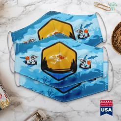 Wow Classic Fishing Addon Bite Me Shark Funny Fishing Cloth Face Mask Gift %tag familyloves.com