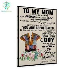 Coast Guard To My Mom I Know It's Not Easy For A Woman To Raise A Child Love Son Canvas %tag familyloves.com