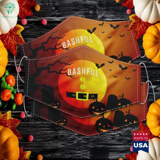 Bashful Dwarf Halloween Costume Gift Idea Dwarf Halloween In Salem Ma Cloth Face Mask Gift %tag familyloves.com
