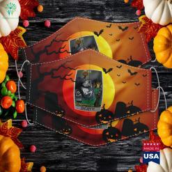 Death Tarot Card Headless Horseman Halloween Spooky Gothic Halloween Candy Cloth Face Mask Gift %tag familyloves.com