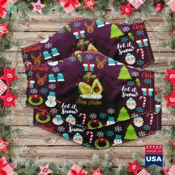 Fitz And Floyd Christmas Avo Merry Christmas Cute Matching Couple I Avo You Cloth Face Mask Gift %tag familyloves.com