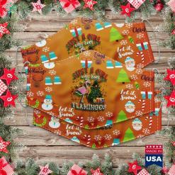 Funny Christmas Quotes Just A Girl Who Loves Flamingos Christmas Santa Claus Cloth Face Mask Gift %tag familyloves.com